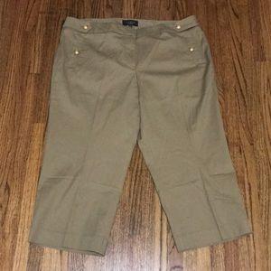 Talbots women's Beige Cropped pants